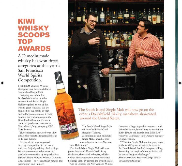 Kiwi Whisky Scoops Top Awards